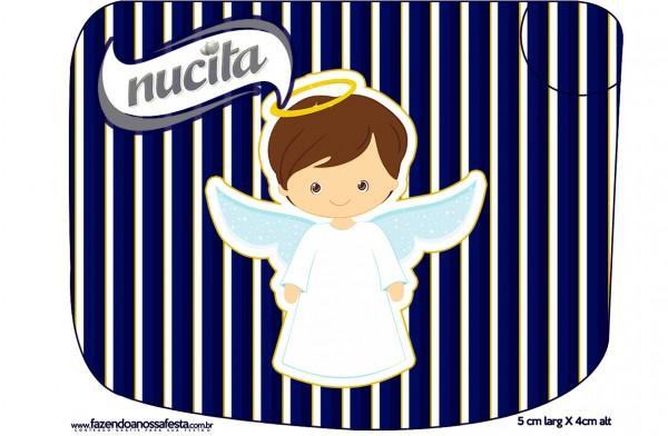 Creminho Nucita Batizado Menino Azul Marinho e Branco