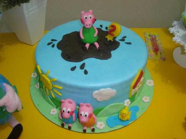 Bolo Festa George Pig do Davi