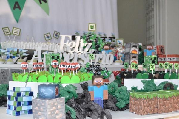 Festa Minecraft do Yan
