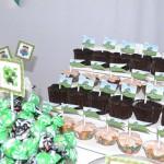 Bandeirinha Sanduiche Festa Minecraft do Yan