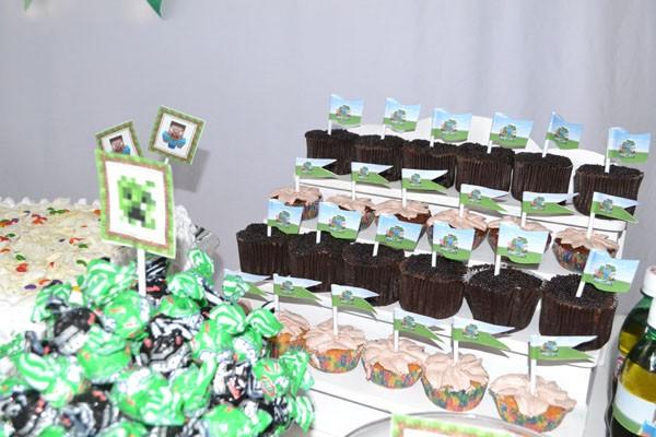 Letras Minegraft Fazendo A Nossa Festa: Bandeirinha Sanduiche Festa Minecraft Do Yan