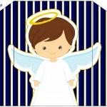 Envelope Batizado Menino Azul Marinho e Branco