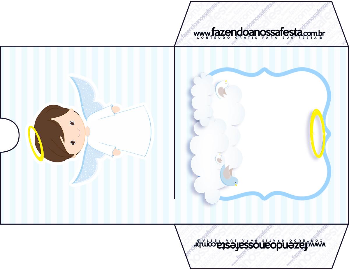 Conhecido Envelope CD DVD Batizado Azul Claro - Fazendo a Nossa Festa ZS95