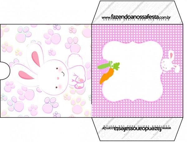 Envelope CD DVD Páscoa Coelhinho Cute Rosa