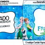 Envelope Cartão Agradecimento Frozen Febre Congelante