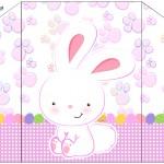 Envelope Convite Páscoa Coelhinho Cute Rosa