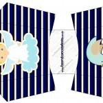 Envelope Fritas Batizado Azul Marinho Anjinho Loiro