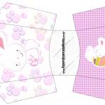 Envelope Fritas Páscoa Coelhinho Cute Rosa