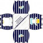 Forminhas Docinhos Batizado Azul Marinho Anjinho Loiro