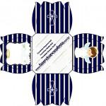 Forminhas Docinhos Flor Batizado Menino Azul Marinho e Branco