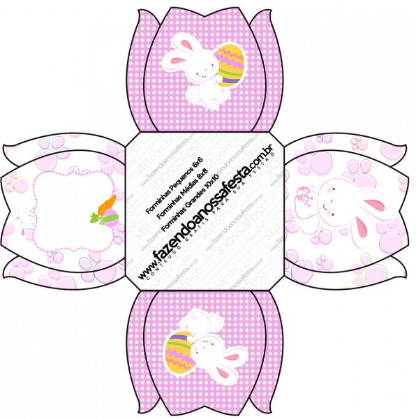 Forminhas Docinhos Páscoa Coelhinho Cute Rosa