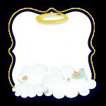 Frame Batizado Menino Azul Marinho e Branco