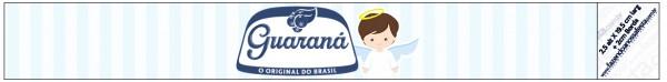 Guaraná Caçulinha Batizado Azul Claro