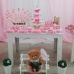 Mesa de Doces Chá de Fraldas Tema Coroa de Princesa