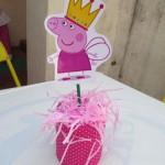 Centro de Mesa Festa Peppa Pig da Maria Eduarda