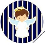Latinhas, Toppers e Tubetes Batizado Menino Azul Marinho e Branco 1