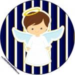 Latinhas, Toppers e Tubetes Batizado Menino Azul Marinho e Branco 2