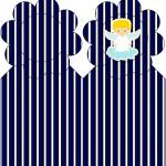 Marcador de Páginas Batizado Azul Marinho Anjinho Loiro