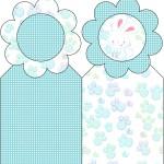 Marcador de Páginas Páscoa Coelhinho Cute Azul