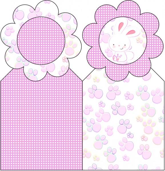 Marcador de Páginas Páscoa Coelhinho Cute Rosa