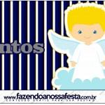 Mentos Batizado Azul Marinho Anjinho Loiro