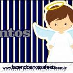 Mentos Batizado Menino Azul Marinho e Branco