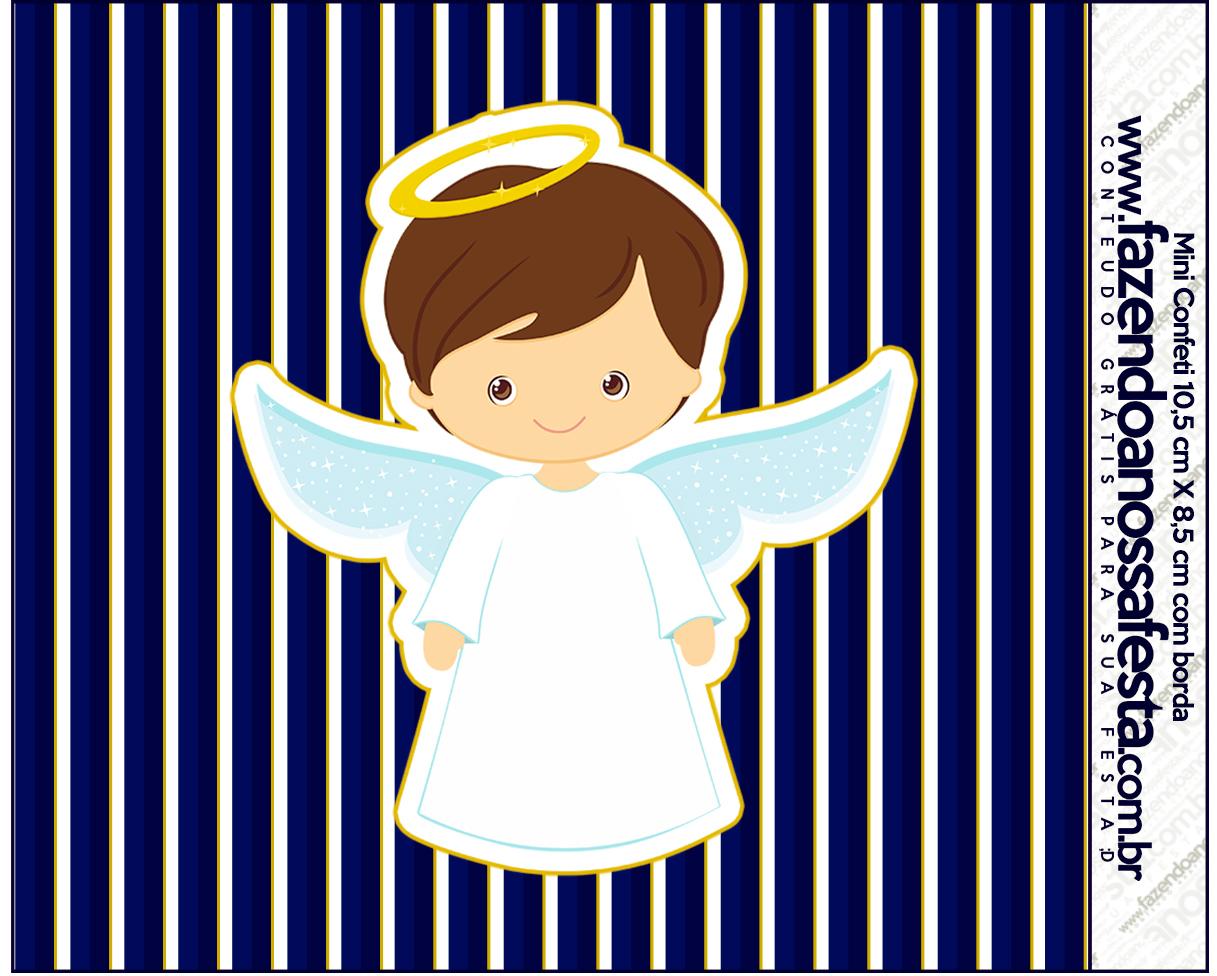 Confeti Batizado Menino Azul Marinho e Branco Fazendo a Nossa Festa #040441 1217x976 Banheiro Azul Marinho Com Branco