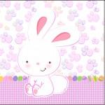 Mini Confeti Páscoa Coelhinho Cute Rosa