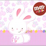 Mini M&M Páscoa Coelhinho Cute Rosa