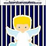 Mini Pastilha Docile Batizado Azul Marinho Anjinho Loiro