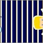 Mini Talento Batizado Azul Marinho Anjinho Loiro