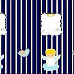 Nescauzinho Batizado Azul Marinho Anjinho Loiro