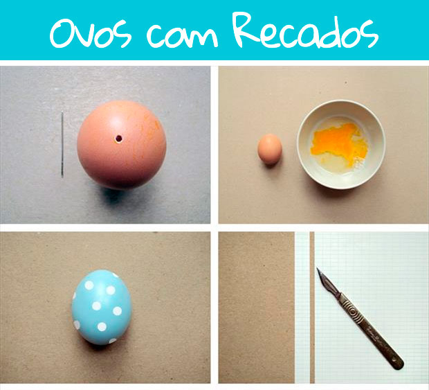 Ovos de Páscoa com Recadinhos