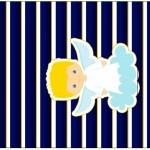Pé de Moleque Yoki Batizado Azul Marinho Anjinho Loiro