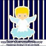 Passatempo Batizado Azul Marinho Anjinho Loiro