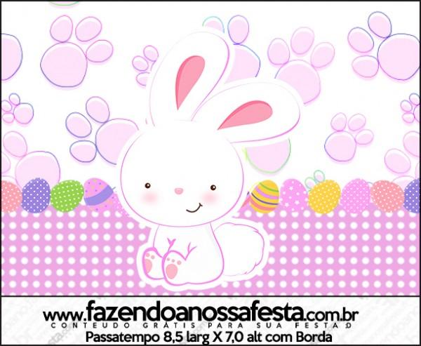 Passatempo Páscoa Coelhinho Cute Rosa
