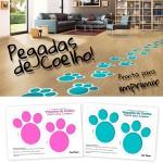 Pegadas de Coelho Pronta para Imprimir
