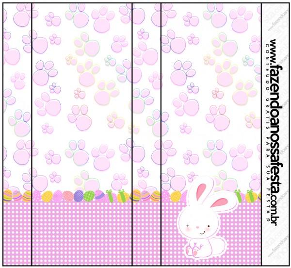 Pirulito Mastigável Páscoa Coelhinho Cute Rosa
