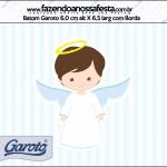 Rótulo Batom Garoto Batizado Azul Claro