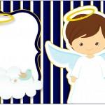 Rótulo Caixa Bombom Batizado Menino Azul Marinho e BrancoRótulo Caixa Bombom Batizado Menino Azul Marinho e Branco