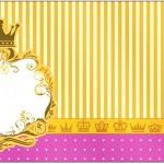 Rótulo Caixa Bombom Fundo Princesa