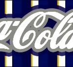 Rótulo Coca-cola Batizado Azul Marinho Anjinho Loiro