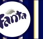 Rótulo Fanta Batizado Azul Marinho Anjinho Loiro