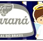 Rótulo Guaraná Batizado Menino Azul Marinho e Branco