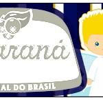 Rótulo Guaraná Caçulinha Batizado Azul Marinho Anjinho Loiro