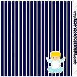 Rótulo Pirulito Mastigável Batizado Azul Marinho Anjinho Loiro