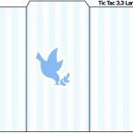 Rótulo Tic Tac Batizado Azul Claro