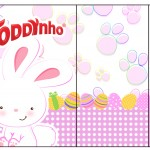 Rótulo Toddynho Páscoa Coelhinho Cute Rosa