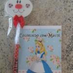 Caderno de Colorir Festa Alice no País das Maravilhas da Maitê