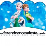 Saias Wrappers para Cupcakes 2 Frozen Febre Congelante